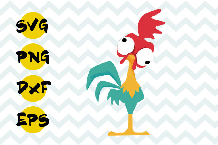 Hei Hei Svg Free Cock Svg Moana Svg Free Instant Download Hei Hei Cut File Free Svg Cutting Files Silhouette Vector Png Eps Dxf 0078 Freesvgplanet