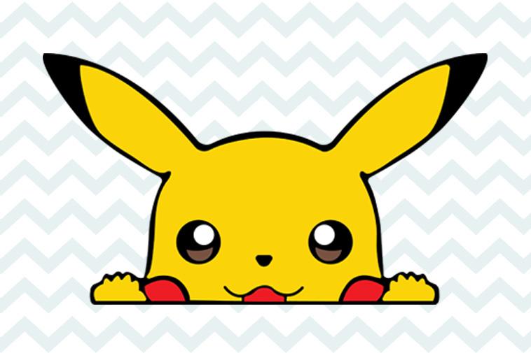 Pokemon Pikachu Digital Download SVG DXF EPS Silhouette Studio Cricut Design Space