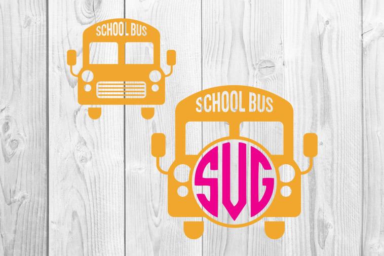 School Bus Monograms Svg Free School Svg Free Teacher Svg Free Back To School Yellow Bus Svg Free Svg Cutting Files Dxf Png Eps 0039 Freesvgplanet