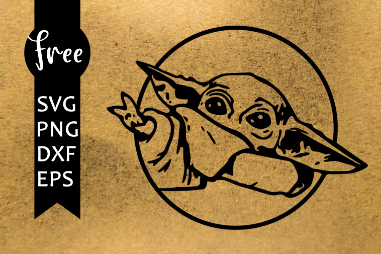 Baby Yoda Free Svg Star Wars Svg Jedy Svg Instant Download Free Vector Files Reaching Force Circle Yoda Svg Free Shirt Design Dxf 0173 Freesvgplanet
