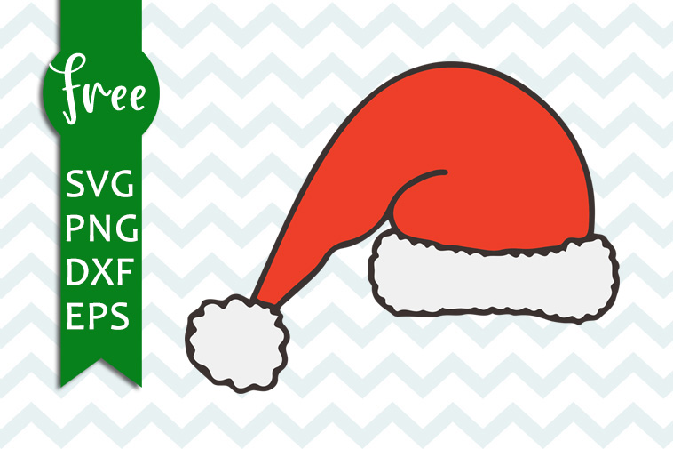 Santa Hat Svg Free Christmas Svg Santa Claus Svg Free Download Free Vector Files Hat Svg Santa Svg Free Cricut Cut Files Png Dxf Eps 0160 Freesvgplanet