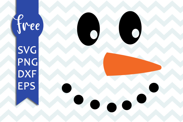 Snowman Face Svg Free Christmas Svg Files Winter Svg Free Instant Download Free Vector Files Shirt Design Clipart Png Dxf Eps 0162 Freesvgplanet