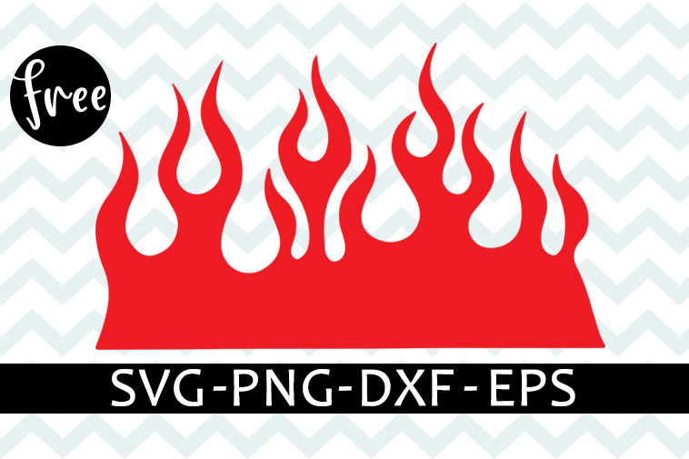 Fire Flames Free Svg Clipart Fire Svg Free Digital Download Shirt Design Free Vector Files Flames Svg Free Png Eps Dxf Files Free 0186 Freesvgplanet
