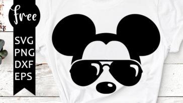 mickey sunglasses svg free - freesvgplanet
