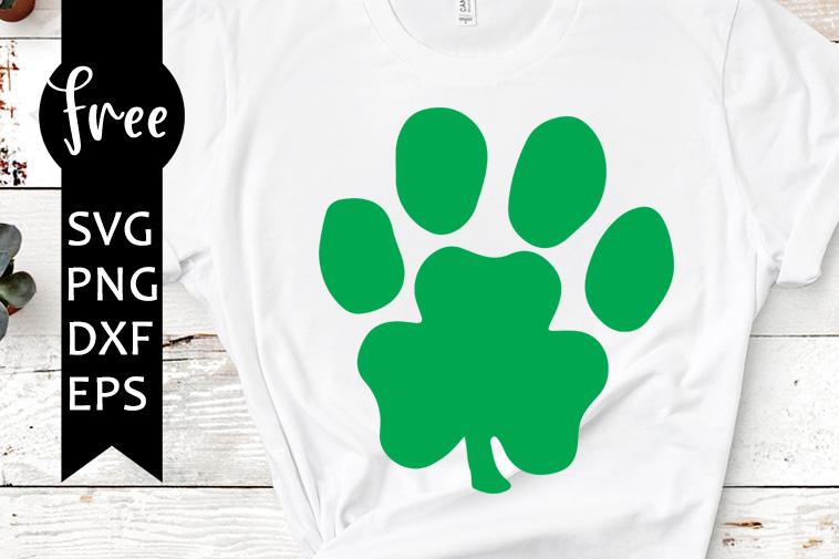 Paw Clover Svg Free St Patricks Day Svg Shamrock Svg Dog Svg Instant Download Shirt Design Clover Svg Silhouette Cameo Png Dxf 0278 Freesvgplanet