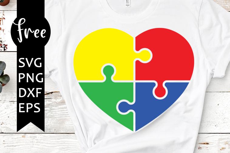 Decal Stencil Png Pdf Eps Dxf Vector Cut file for Cricut Silhouette Sticker Heart Puzzle on Autism Sunflower SVG Vinyl