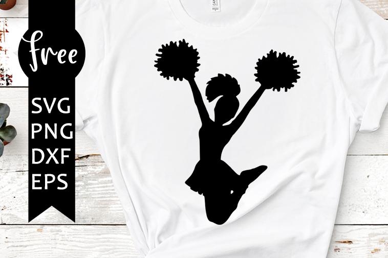 Cheerleader Svg Free Cheer Svg Sport Svg Instant Download Silhouette Cameo Shirt Design Cheer Mom Svg Pom Pom Svg Png Dxf 0345 Freesvgplanet