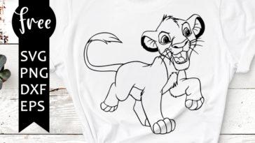 Simba Svg Free The Lion King Svg Free Disney Character Svg Files Instant Download Cartoon Svg Outline Svg Lion King Svg Png Dxf 0772 Freesvgplanet