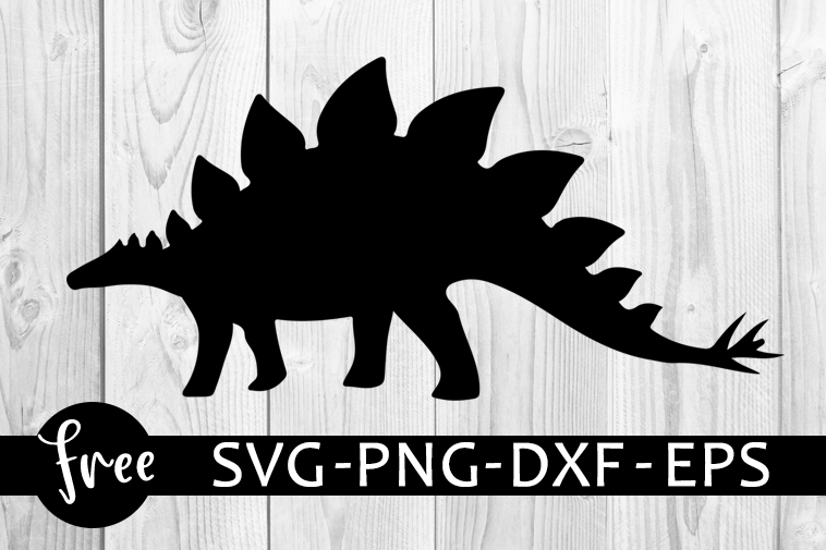 Dinosaur Svg Free Dinosaur Cut File Dinosaur Silhouette Instant Download Silhouette Cameo Shirt Design Free Vector Files Dxf 0886 Freesvgplanet