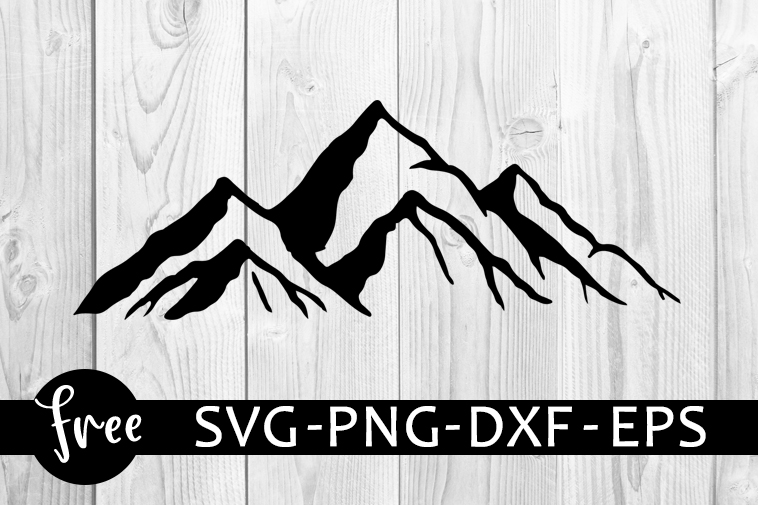 Mountain Svg Free Mountains Svg Camp Svg Instant Download Silhouette Cameo Shirt Design Camping Cut Files Free Vector Files 0902 Freesvgplanet